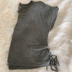 AEO Soft & Sexy Lace Up Tee
